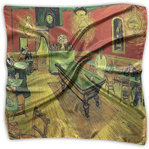 Square Scarf Art Vincent Van Gogh Oil Painting Neck Head Unisex Headband Tie For Adults