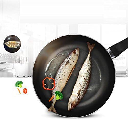 NYDZDM Casserole antiadhésive de cuiseur de gaz de Casserole antiadhésive Mini 26 / 28cm Omelette de fumée (Size : 28cm)