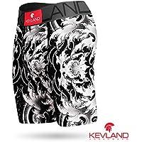 Cueca Boxer Long Leg Kevland Black Waves