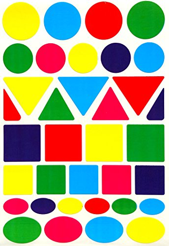 Color Coding Labels --Value pack Assorted sizes 5 Colors Stickers--875 pack ()