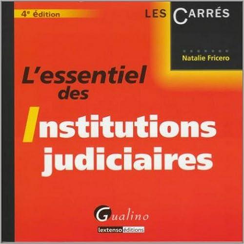 Livres gratuits L'essentiel des Institutions judiciaires pdf ebook