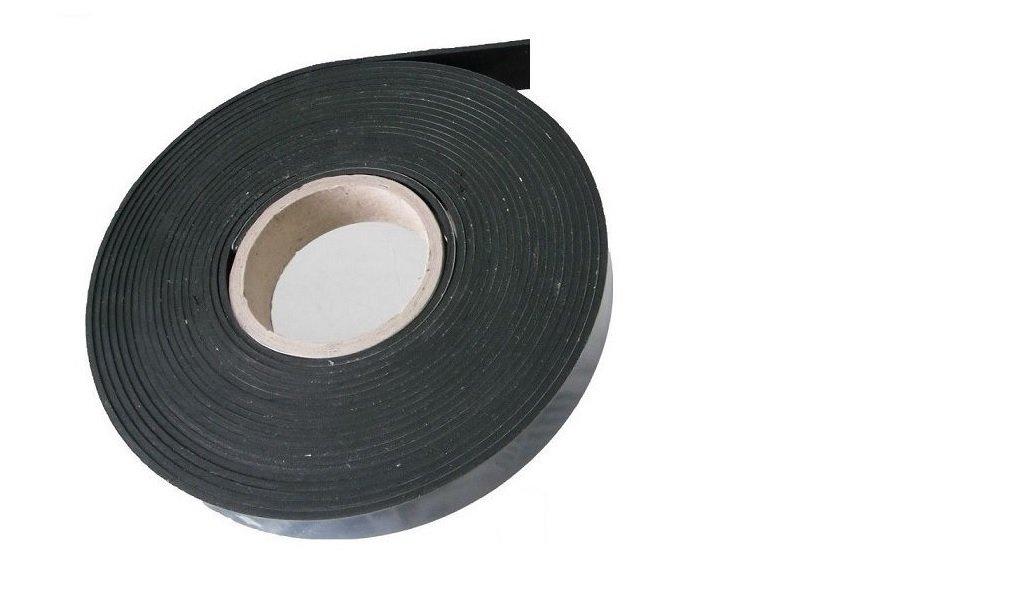 Env EPDM EPDM Bande en caoutchouc rigide autocollante Noir 9,6 m x 10 x 1 mm