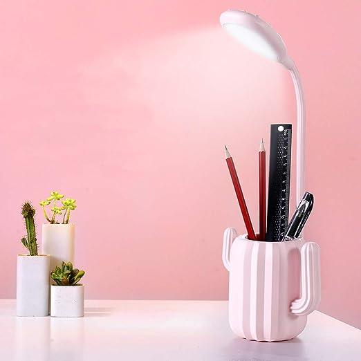 LED Cactus Protection Des Yeux Lampe De Table, USB Plusieurs