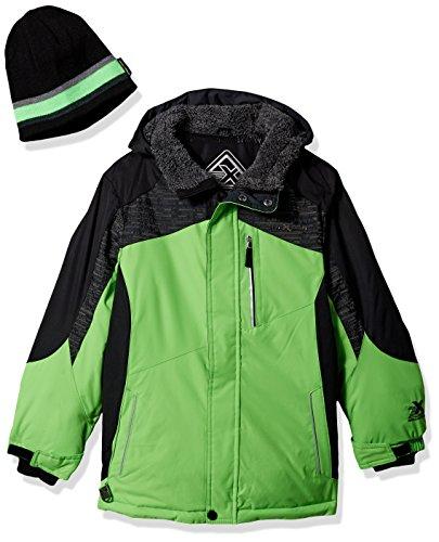 Green Snowboard Jacket (ZeroXposur Big Boys' chamfron Snowboard Jacket, Neon Lime, Large)
