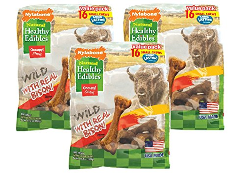Nylabone Healthy Edibles Wild Bison Value Bag Small 16pk ()
