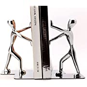 Amazon Lightning Deal 91% claimed: Fasmov Heavy Duty Stainless Steel Man bookends Nonskid Bookends Art Bookend,1 Pair