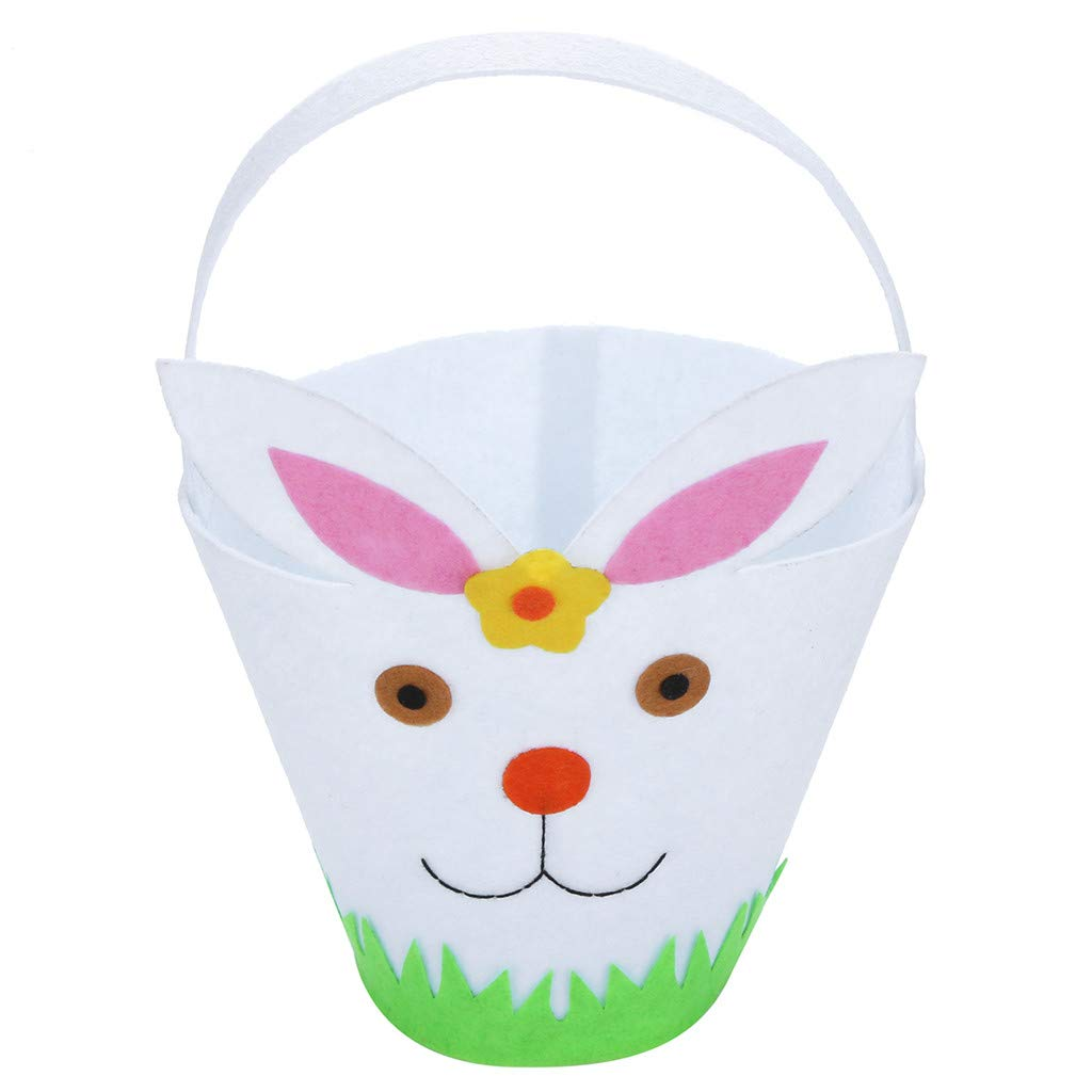 Easter Basket for Kids, Geetobby Bunny Basket Bags Canvas for Party's Decoration Eggs Candy and Gift