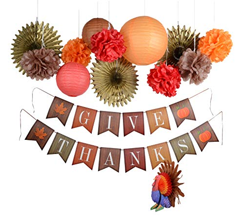 1 THANKSGIVING Party Table Decoration HONEYCOMB TURKEY CENTERPIECE 9 inches