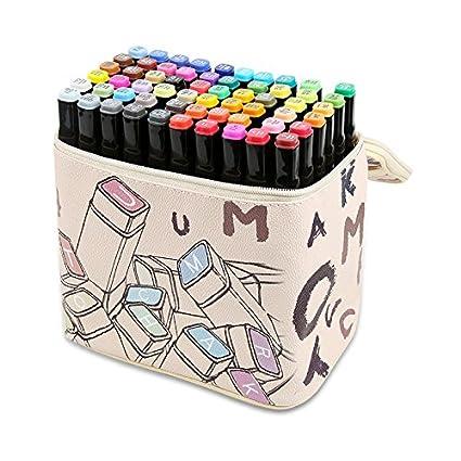 amazon com marker pen 60 set animation sketch markers set dual tip