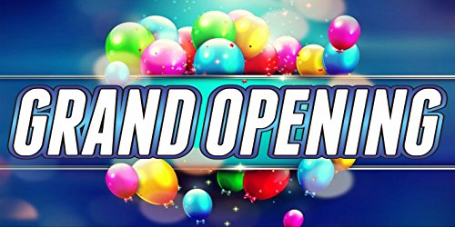 2' X 6' Grand Opening Sign 13oz Vinyl Full Color Banner Hemmed & Grommets Indoor / Outdoor (Banner Opening Outdoor)