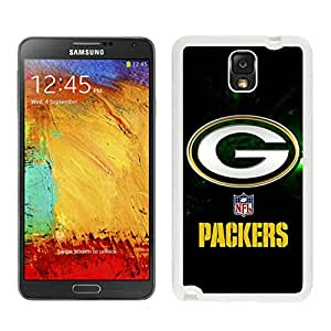 Green Bay Packers White Customize Samsung Galaxy Note 3 Cover Case