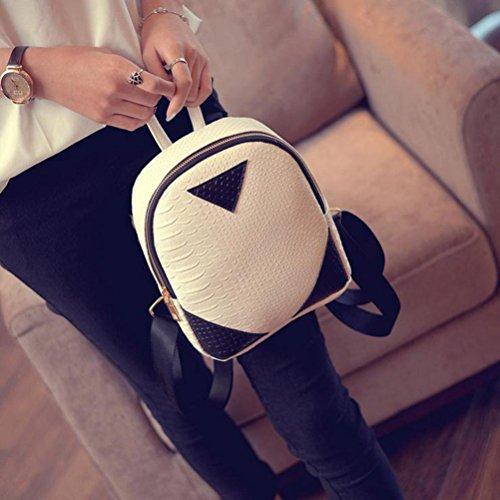 Backpack Serpentine Book Kemilove Canvas School Shoulder Women Bag concise White Rucksack wSgnnqXCI