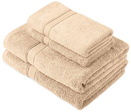 Pinzon-by-Amazon-Juego-de-toallas-de-algodon-egipcio-2-toallas-de-bano-y-2-toallas-de-manos-color-beige