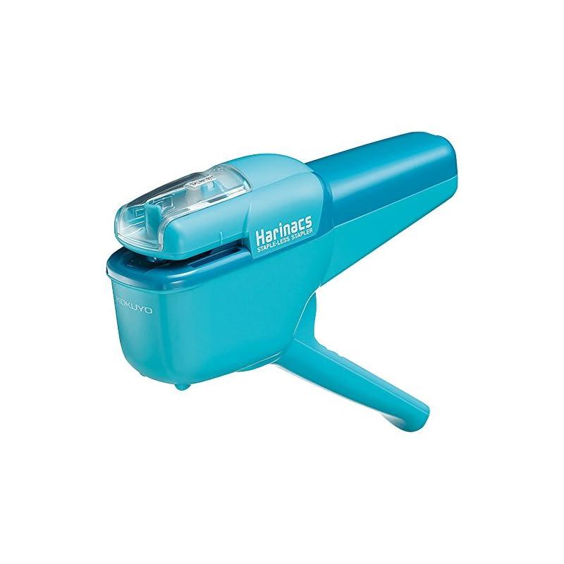 Kokuyo Harinacs Japanese Stapleless Stapler Ten-sheet binding Light Blue SLN-MSH110LB