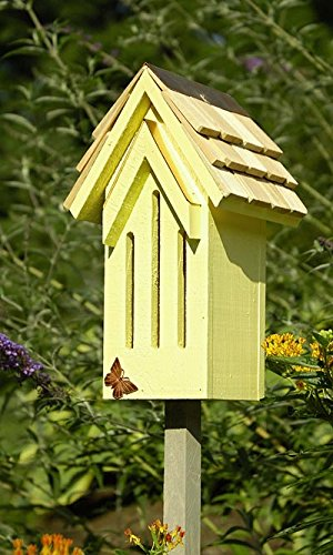 Heartwood Mademoiselle Butterfly House - Heartwood Small Butterfly House & Pole, Yellow