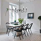 T&A Black 6-Light Chandeliers,Classic Candle