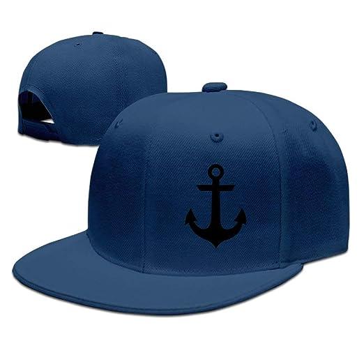 Nautical Anchor Snapback Flat Bill Baseball Cap at Amazon Men s ... 5a44a902df1