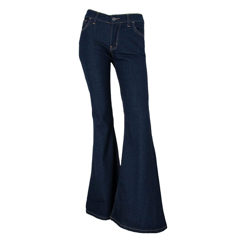 "Fans London 70s Bell Bottom Flare Indigo Jeans 26"" Leg Opening - US 4 - 14"