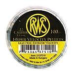 RWS Hyper Velocity 100 Rounds Air Gun Pellets, .22 Caliber, 2137510
