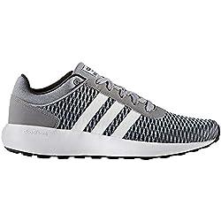adidas Neo Men's Cloudfoam Race Running Shoe, Black/White/Tech Grey, 12 M US