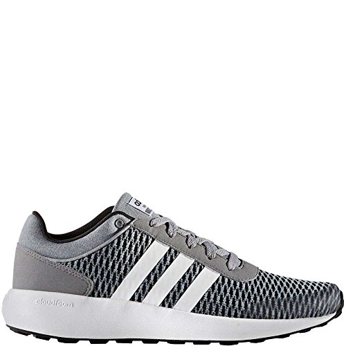 adidas Neo Men's Cloudfoam Race Running Shoe Black/White/Tech Grey 10.5 M US