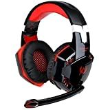 EasySMX Comfortable 3.5mm Stereo Game Headset High Quality LED Switch, Over-Ear Gaming headphone with Mic LED Light Noise Cancelling Volume Control for Computer Game PC Laptop Mac Nintendo Switch New Xbox One PS4 (3.5mm Splitter Cable Included)