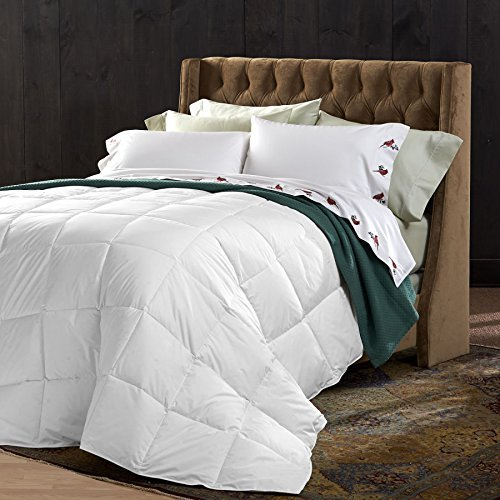 Deluxe All Seasons California King Size 1200 Thread Count Solid White Down Alternative Comforter