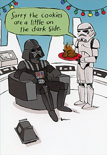 image arts star wars darth vader cookies box of 16 funny christmas cards - Star Wars Christmas Card