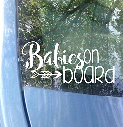 CELYCASY Kids on Board Window Decal Car Decal New Baby Baby on Board Sticker Mom Decal Child on Board Safety Van