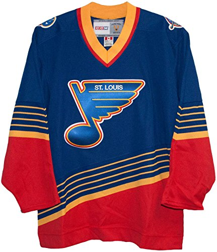 (CCM St. Louis Blues Blue 1995 Vintage Jersey)