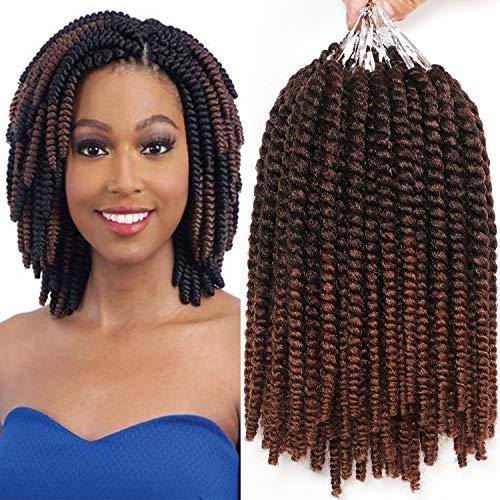 8 Inch Havana Mambo Twist Crochet Hair Tight and Bouncy 7 Packs Short Senegalese Twist Hair Crochet Braids 15 Strands/Pack (T1B/30#)