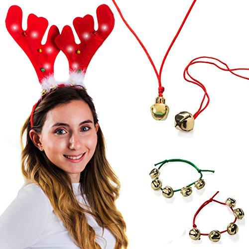 Plush Antler Jingle Necklaces Bracelets