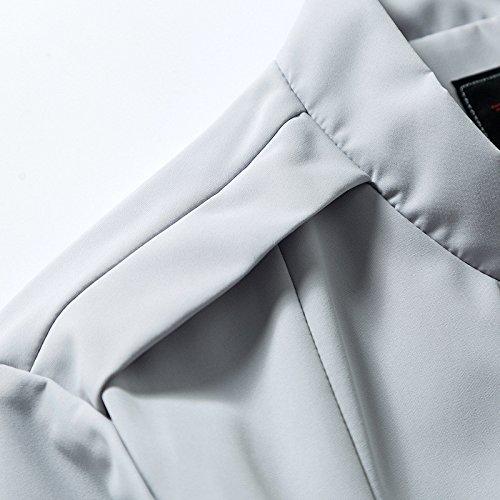 Sau Maschile G Marea Giacca Un Unita Di Sigaro Uomo Versione 2021 Camicia Camicie Coreana Autunno Grigio Xxxxl collo Uomini Tinta Dimagrimento Della In Mock Gioventù rOrdwIUqv