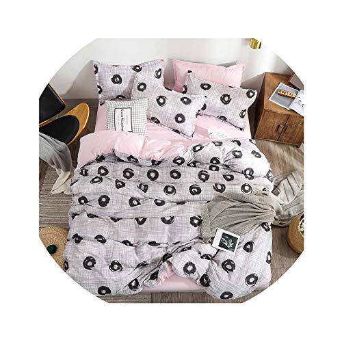 Clayton M Bracewell Bedding Set Luxury Pink Love 2/3/4Pcs Family Set Sheet Duvet Cover Pillowcase Boy Room Flat Sheet No Filler Bed Set,Za5,Full Cover 150By200