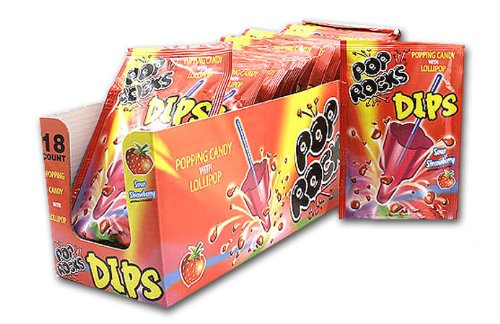 - Pop Rocks Sour Strawberry Dip Candy, 0.63 Ounce -- 18 per case.