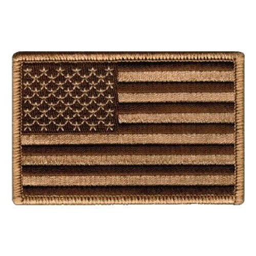 Tactical USA Flag Patch - Desert Tan 2