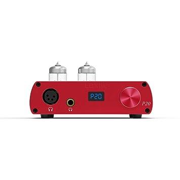LOXJIE P20 Amplificador para Auriculares Audio Mini Hi-Fi estéreo 6N3 NJW1195 600mW at 64Ω (Rojo)