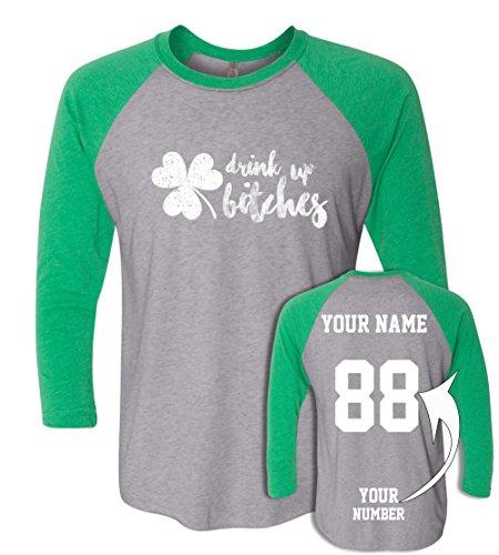 Custom Jerseys St Patrick's Day T Shirts - Saint Pattys Baseball Raglans Irish Outfits ☘