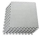 Multipurpose Anti-Fatigue Exercise Puzzle Mat Tiles - Interlocking EVA Foam Mat Tiles - 216 Sq. Ft. (Grey)