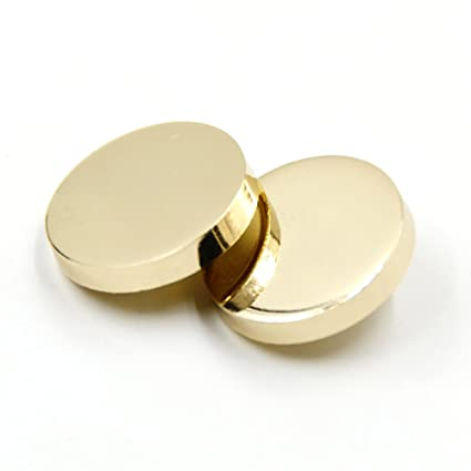 2f23138a07 Sewing Flat Metal Button Shirt Coat Suit Buckle Buttons,Pack of 10