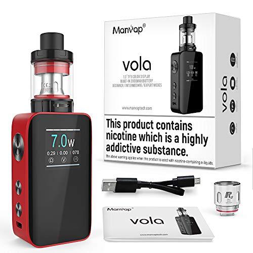 E Zigarette Starter Set Manvap Vola 100W Ezigarette Ohne Nikotion E Shisha TF Verdampfer Tank Mod Kit Box Mod 2000mAh…