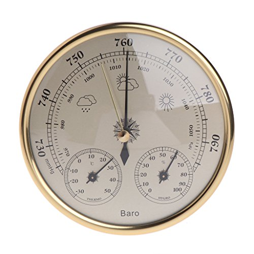 Sixsons Wall Mounted Household 3-in-1 Barometer Thermometer Hygrometer Weather Station Hanging (#030) by Sixsons