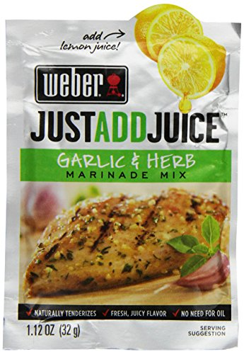 (Weber Just Add Juice Marinade Mix, Garlic and Herb, 1.12 Ounce (Pack of 12))