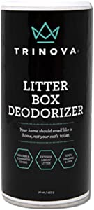 TriNova Premium Natural Litter Box Deodorizer - 100% Bio-Based, Hypoallergenic, Fragrance Free Odor Eliminator & Neutralizer - Extends Your Pet Cat's Litter & Absorbs Odors