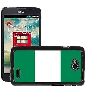 GoGoMobile Slim Protector Hard Shell Cover Case // V00001130 Nigeria National Country Flag // LG Optimus L70 MS323