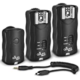 (2 Trigger Pack) Altura Photo Wireless Flash Trigger Nikon w/Remote Shutter Release (Nikon DF D3100 D3200 D3300 D5100 D5200 D5300 D7100 D7500 D610 D750 D500 D5 DSLR Cameras)