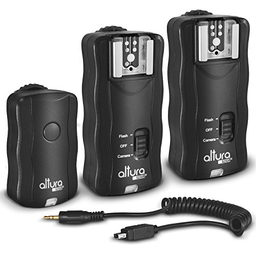 (2 Trigger Pack) Altura Photo Wireless Flash Trigger for NIKON w/Remote Shutter Release (NIKON DF D3200 D3100 D3300 D3400 D5100 D5200 D5300 D5600 D7100 D7500 D850 D610 D750 D500 D5 DSLR Cameras) by Altura Photo