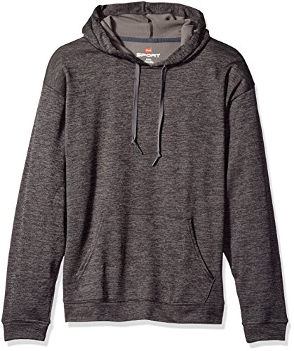 - Hanes Men's Sport Performance Fleece Pullover Hoodie, Granite Heather, XL