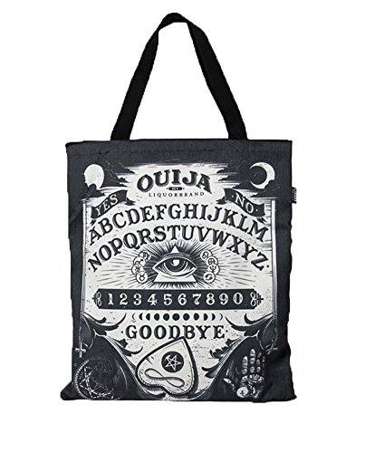Liquorbrand Ouija Board Illuminatii Halloween Canvas Zipper Shopping Tote Bag