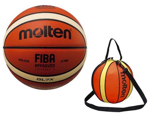 【セット品】モルテン(Molten)ボールボールバッグ バスケットボール7号球 【BGL7X】1点/バスケットボール1個入れ【NB10R】1点 B07DYNV8K3